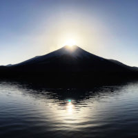 手打そばやまさと 山中湖 ダイヤモンド富士